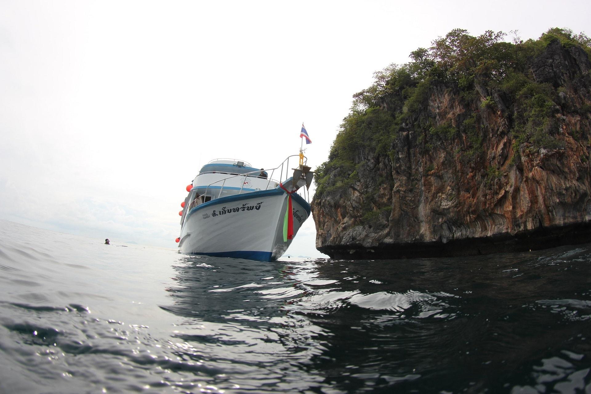 Dive boat at Phi Phi
