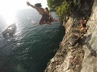 Krabi cliff jumping