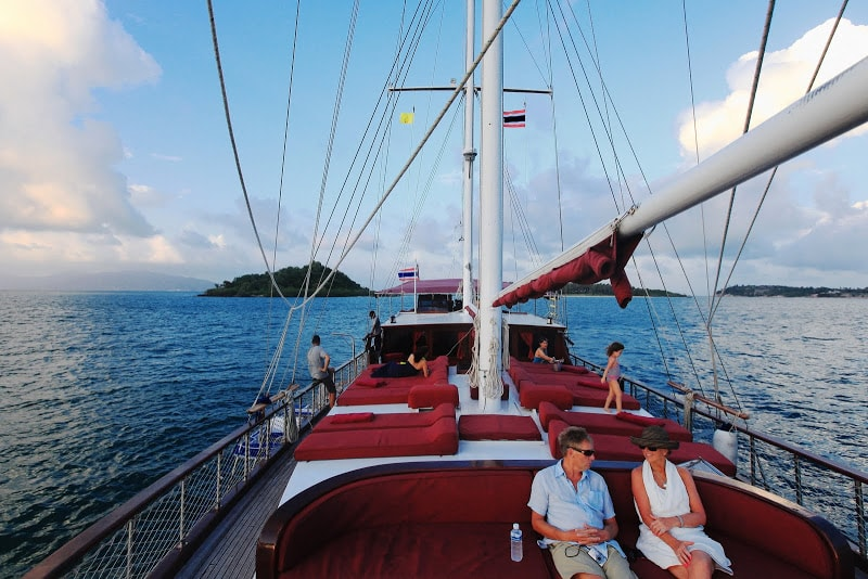 Relax on board Naga yacht samui