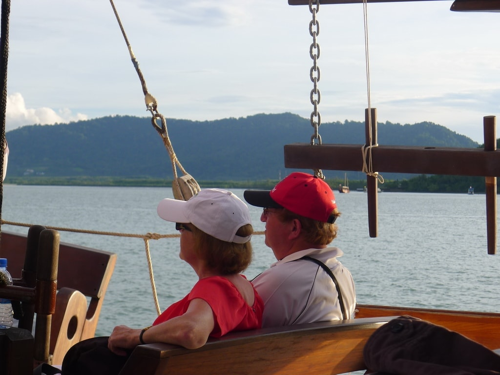 June Bahtra sunset cruise in Phang Nga bay