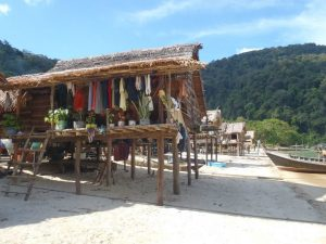 Moken village Surin Islands