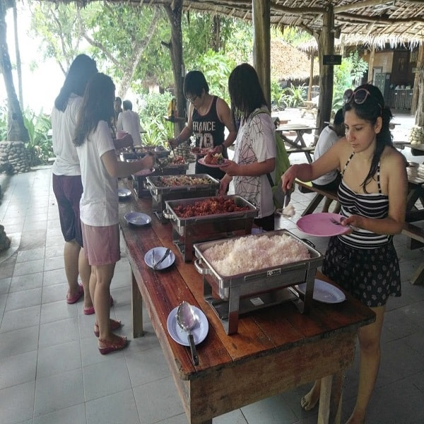 Lunch at the Surin Islands