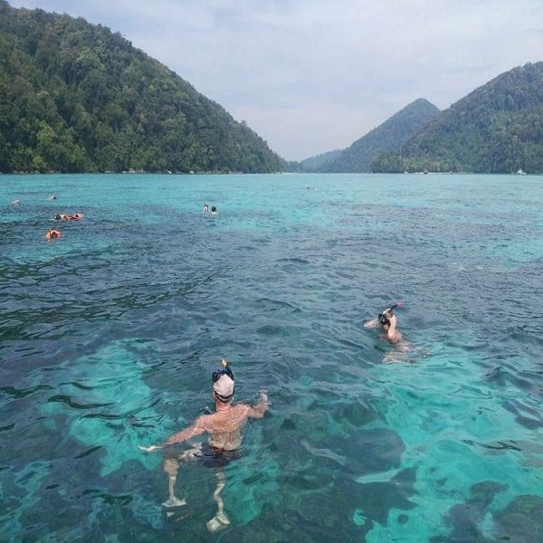 Snorkeling at the Surin Islands