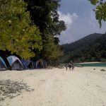 Surin islands accommodation - tents on the beach