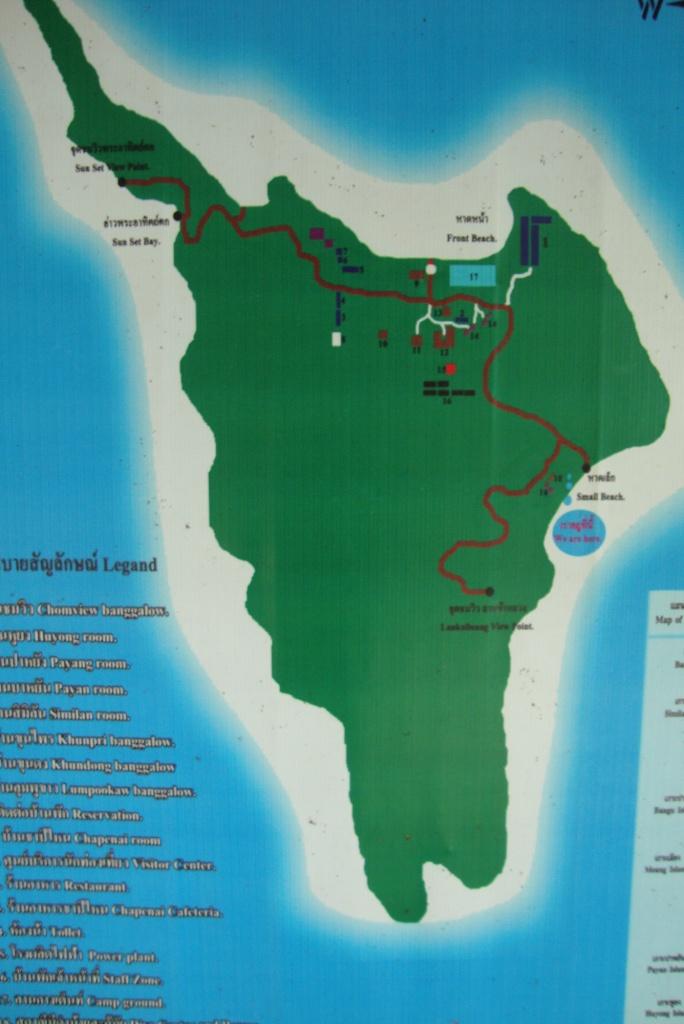 Koh Miang map