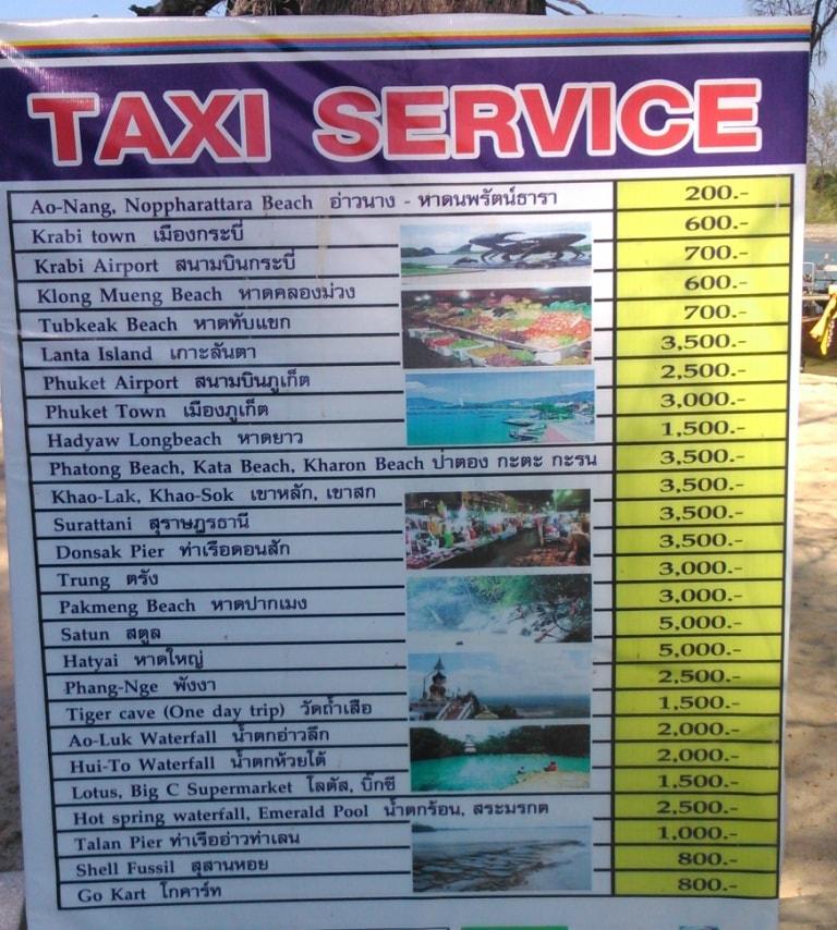 Krabi taxi