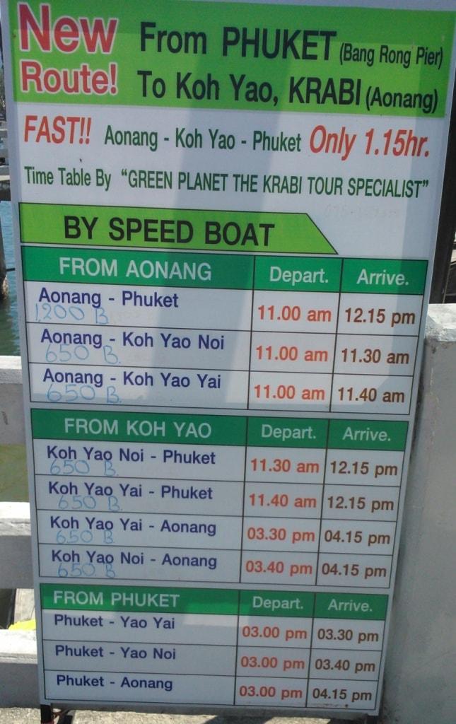 Krabi to Koh Yao