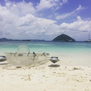 Coral Island clear kayak
