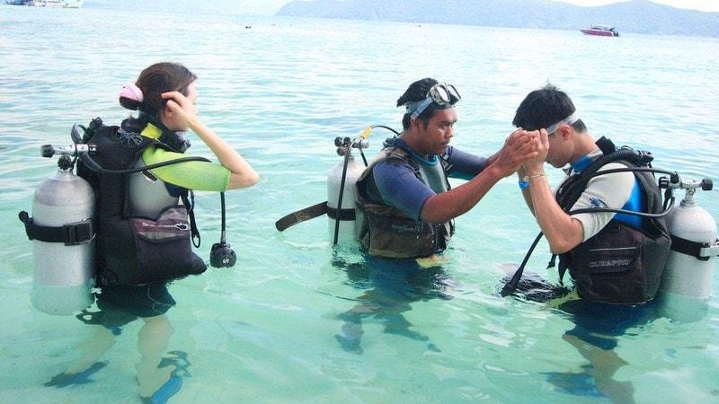 Coral Island scuba diving