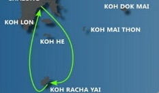 Sailing Koh Hey route
