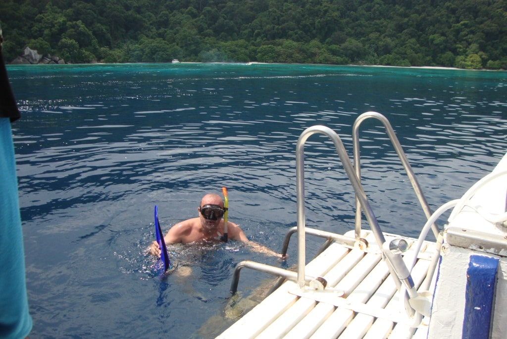 Snorkeling on the dive boat