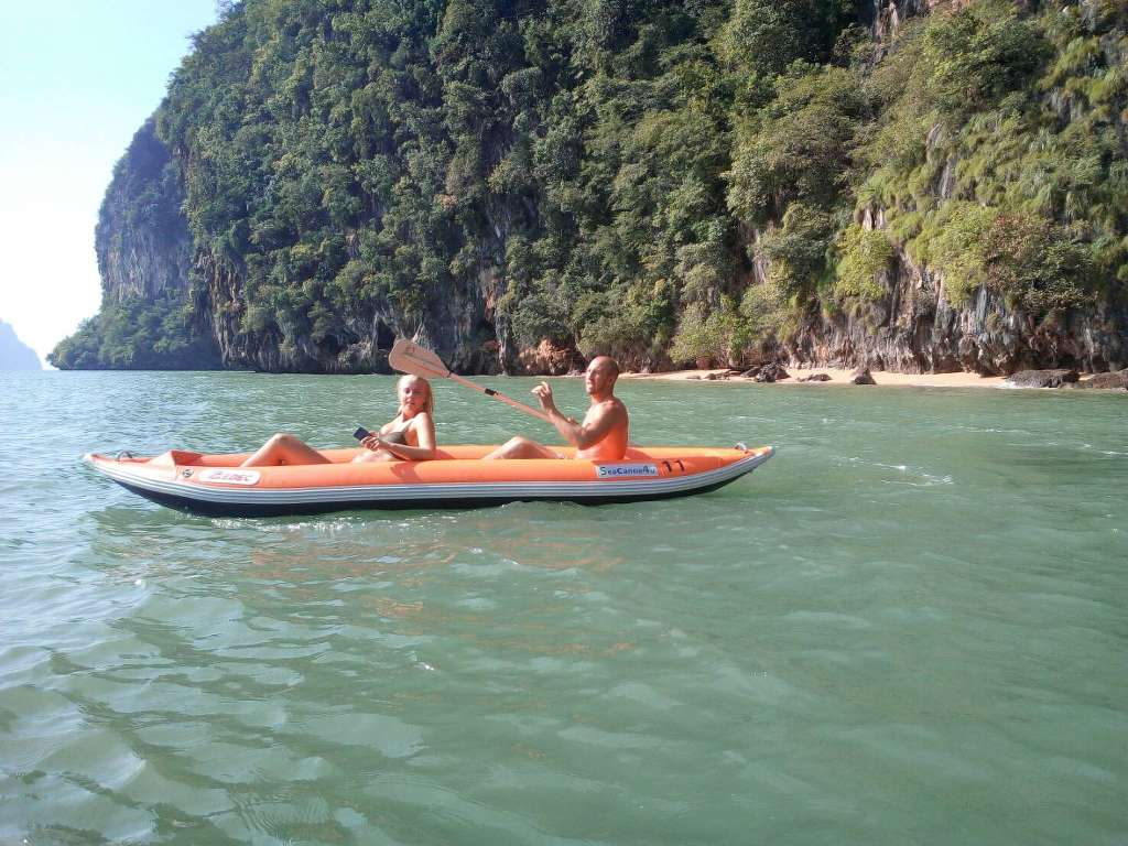 Private Phang Nga caves tour self paddle