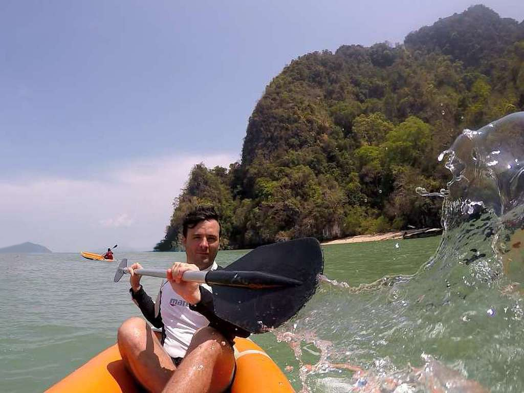 Private Phang Nga caves tour kayaking