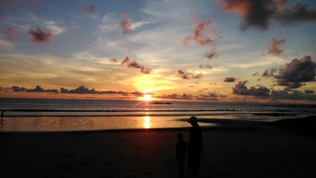 Nangthong beach sunset Khao Lak