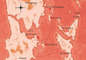 Phang Nga tour route